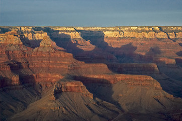 mountain sunset in grand canyon