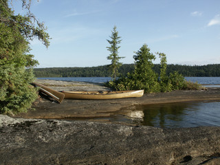 canoes in the wilderness