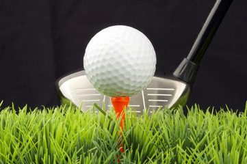 driver and golfball