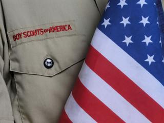 bsa uniform & us flag