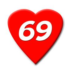 coeur 69 blanc