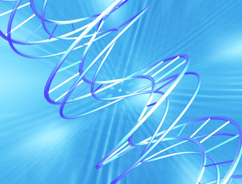 abstract dna on blue tech background