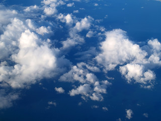 sky and clouds from an airplane