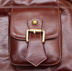 pocket of  leather