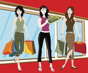 shopping girls
