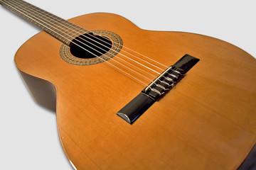 guitare classique espagnole en gros plan