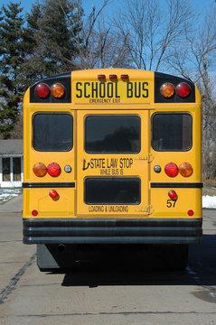 school bus in the neighborhood