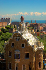 spice-cake house in park guell by antoni gaudi