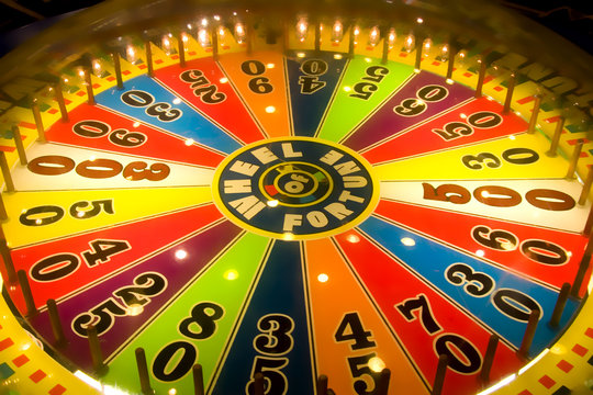 wheel of fortune, spin and win numbers game