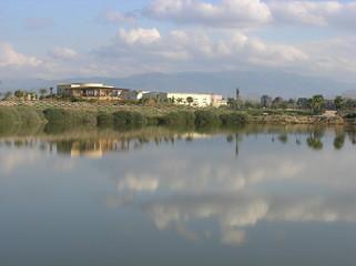 Canvas Prints River nuvole allo specchio