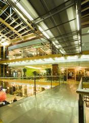interior of a multe-level mall