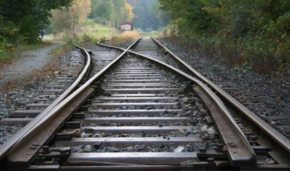 Fotorollo Eisenbahnschienen gleise