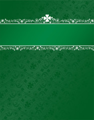 shamrock background with header stripe