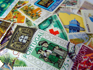 world postage stamp