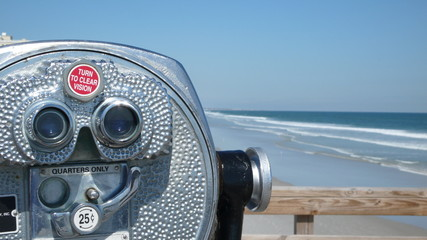 view telescope at beach