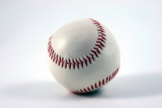 baseball with red seams