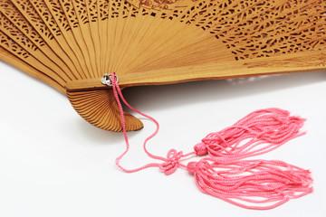 unfolded chinese fan