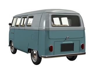 mini bus 3d fond blanc