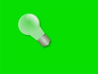 bulb on green