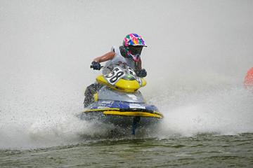 Foto op Plexiglas Water Motor sporten man rushes on a jetbike
