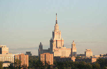 lomonosov moscow state university (sunset)