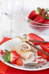 strawberry biscuits with fruits