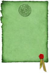 celtic parchment w/ wax seal