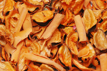dry orange leaves - can be used as background