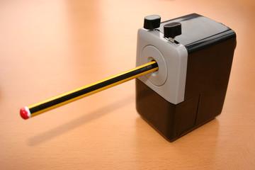 pencil in a desk sharpener