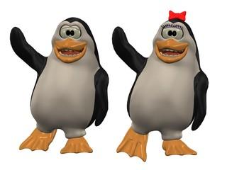 winkende pinguine