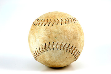 softball / baseball on a white background