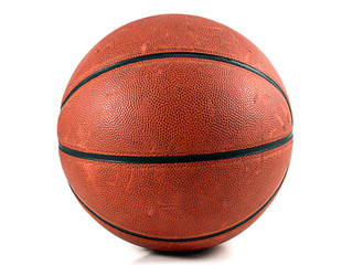 basketball with a white background