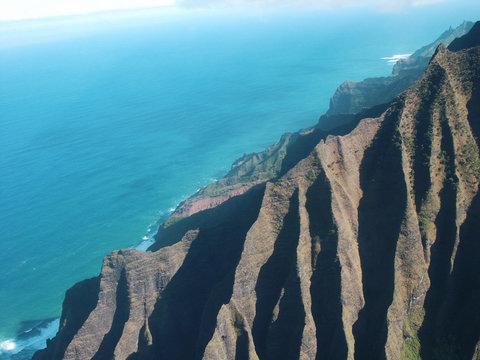 rudged mountain coast