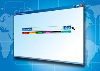 internet search screen