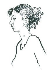 figure of the girl.
