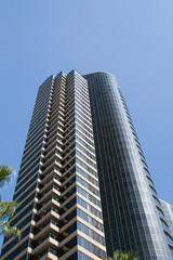 Fotobehang Aan het plafond modern skyscrapers