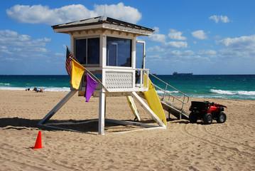 lifeguard post on a florida beach