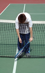 wiped out at tennis