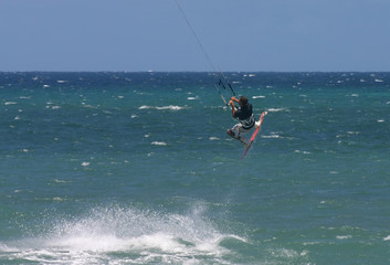 kite surfer in action in maui