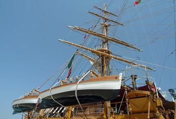 masts of sail boat
