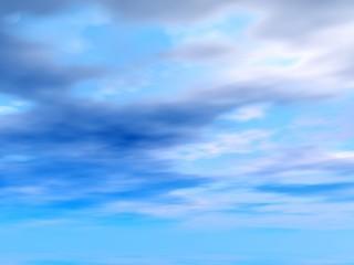 blue heavens. illustration
