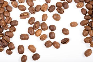 espressobohnen verteilt