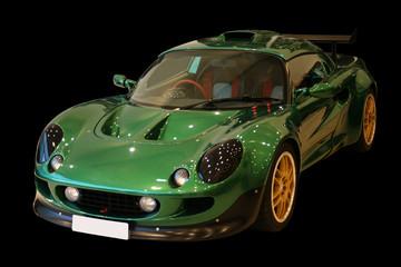green sportscar