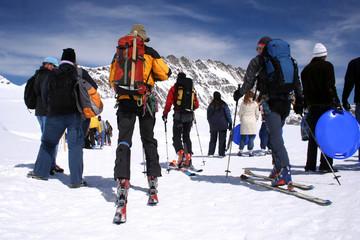 """""""esquí, esquiadores en los alpes suizos"""""""