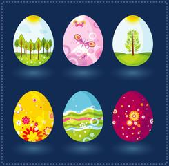 six easter eggs