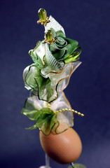 artificial flower and egg for door gift
