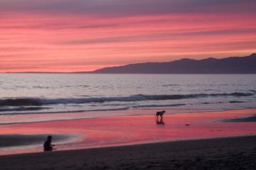 sunset on venice beach 2