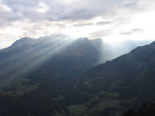 heavenly lights in the alps