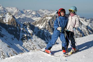 skieurs enfants