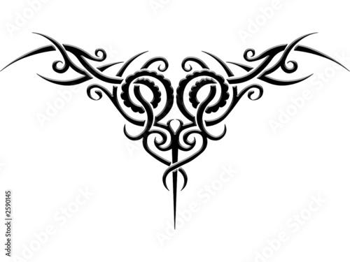 tribal tattoo vorlage stockfotos und lizenzfreie bilder. Black Bedroom Furniture Sets. Home Design Ideas